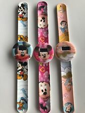 1x Children Kid Girl Boy Minnie Mickey Mouse Princess Slap On Snap Wrist Watch