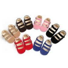 Baby Infant Kids Girls Soft Sole Crib Toddler Newborn Shoes Slip-On Dress Shoes