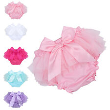 Baby Toddler Girl Bottoms Diaper Nappy Cover Pants Tulle Ruffle Bloomers Shorts