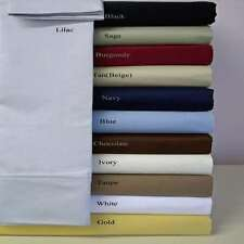 Best US Bedding Collection 1000 TC Egyptian Cotton Twin Size All Solid Colors