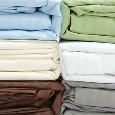 4 pc Sheet Set OR 3 pc Duvet Set 1000 TC 100%Egyptian-Cotton Select Size