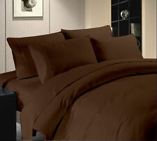 1000TC/1200TC 100%EGYPTIAN COTTON ALL US SIZES ALL BEDDING ITEMS CHOCOLATE SOLID