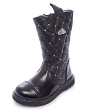 Laura Biagiotti 130 Boots Black Girls Smooth Leather