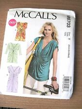 NEW McCALLS SEWING PATTERN M6703 MISSES TOPS & DRESSES Sz Xsm-Med UNCUT