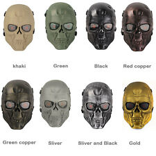 Full Face Skull Mask Outdoor Cs War Game Tactical Airsoft Face Protection Skull