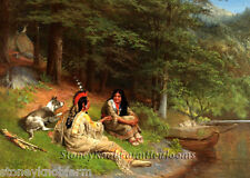 By The River Bank ~ Native American ~ Cross Stitch Pattern