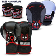 Professional Boxing Sparring Gloves Focus Pads Hook and Jab MMA Punch Bag BLACK