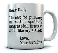 Father's Day Gift idea For Dad Funny Coffee Dear Dad Novelty Tea Mug