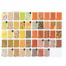 Decopatch Decoupage Printed Paper Yellow and Orange Patterns