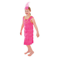 #CHILD GIRLS PINK FLAPPER DRESS 1920s & 1930s FANCY dress OUTFIT 3 SIZES