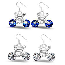 Earring Jewelry Gift 1Pair Bike Earring New Crystal Design Women Bicycle