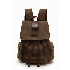 New Vintage Unisex Canvas Backpack Rucksack School Bag Satchel Bag Bookbag
