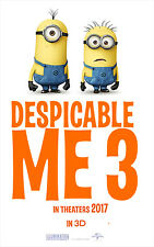 """Despicable Me 3 Movie : MOvie Poster BANNER Vinyl 11""""x17"""" , 27""""x40""""# A"""