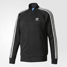 adidas Originals SUPERSTAR MEN'S TRACK JACKET Full Zip BLACK - Size L, XL Or 2XL
