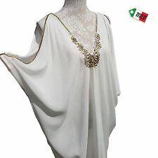 Italian Roman Style Top Tunic Embellished Cold Shoulder Plus Size 20 22 24 26 28