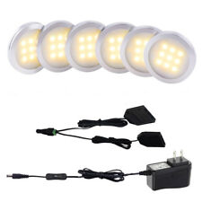 Aiboo LED Under Cabinet lighting,Kitchen Counter Light 6x2w 12V Swich on/off