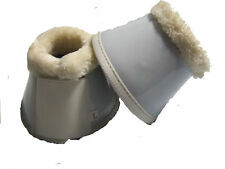 Ecotak White Patent Bell Over Reach Boots with Fleece Ecotak