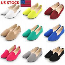US Women Ladies Ballet Dolly Pumps Shoes Flats Loafers Oxfords Shoes Size 5-8