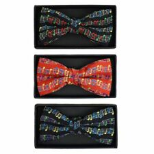 Men's Musical Notes Novelty Bow Tie (NFB-MusicNote)