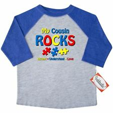 Inktastic Autistic Cousin Rocks Toddler T-Shirt Autism Awareness My Jigsaw Love