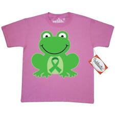 Inktastic Green Awareness Ribbon Frog Youth T-Shirt Walk Support Mental Health