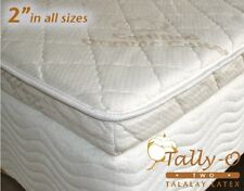 NEW FULL Tally-O Talalay Mattress Pad with Quilted Organic Cotton Cover 53x75