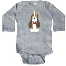 Inktastic Basset Hound With Floppy Ears Long Sleeve Creeper Dog Puppy Lover Red