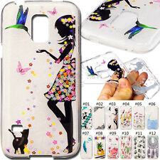 For Samsung Galaxy S5 Mini Painted Case TPU Rubber Soft Back Fashion Cover Skin