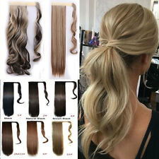 Wrap Around Ponytail Clip In Hair Extension Real as Human Made Pony Tail Piece