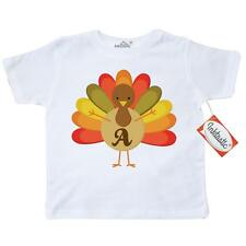 Inktastic Thanksgiving Turkey A Thanksgiving Toddler T-Shirt Holiday Letter Cute