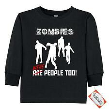 Inktastic Zombies Were People Toddler Long Sleeve T-Shirt Zombie Activist Brains