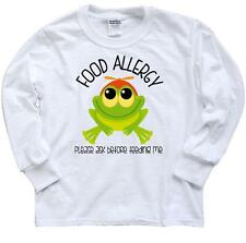 Inktastic Food Allergy Frog Youth Long Sleeve T-Shirt Allergies Wheat Peanut Egg