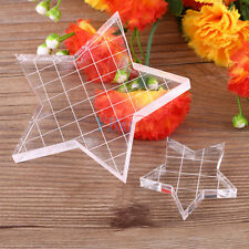 Star Shape Grid Scrapbook Clear Stamp Pad DIY Tool Acrylic Block Fr Clear Stamps