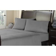 "1000 Thread Count 4 Piece Bedsheet Set GRAY 18"" Pocket  Egyptian Cotton 1000TC"