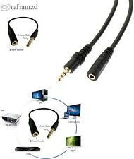 3.5mm Male to Female Stereo Jack Audio Plug Extension Cable 1m,1.5m,2m blk color