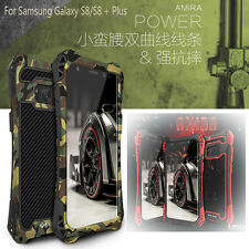 R-JUST Shockproof Carbon Fiber Metal Armor Case Cover For Samsung Galaxy S8 Plus