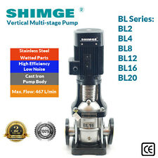 SHIMGE STAINLESS STEEL SINGLE PHASE VERTICAL MULTI-STAGE CENTRIFUGAL PUMP BL SER