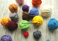 3 kg Arm Knitting Super Chunky Wool Yarn 100% Wool Bulky Merino Roving Weaving