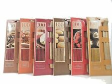 100 INCENSE STICKS WITH WOODEN HOLDER VARIOUS FRAGRANCE TO CHOOSE BG023