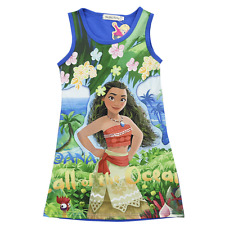 2017 New Moana Kids Girls Party Dress Skirts Lovely Cartoon Summer Clothes
