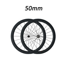700C 50mm Clincher Carbon Wheelset  Bicycle Bike Racing Carbon Fiber wheels