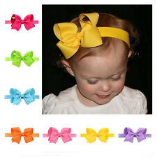 Bow Soft knot Elastic Band Headband Hairband Girls 1Pcs Hair Accessories Flower