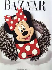 New Cute Cartoon Red Bow Minnie Mouse Silicone Soft Case Cover For Mobile Phones
