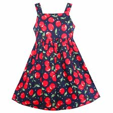 NWT  Flower Girls Dress Cherry Fruit  Princess Holiday Party Children Clothes