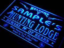 Custom Hunting lounge sign Personalized name man cave sign