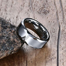 Size 7-12 Tungsten Carbide Stainless Steel Wedding Engagement Silver Band Ring