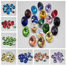 wholesale Round Point back Glass crystal rhinestone Faceted Glass Jewels 8mm