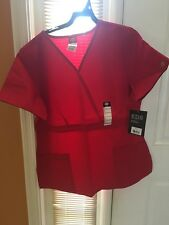 Scrubs Dickies EDS Empire Waist Top 815906 Red SIZE MEDIUM FREE SHIPPING!