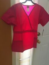 Scrubs Dickies EDS Empire Waist Top 815906 Hot Pink SIZE SMALL FREE SHIPPING!