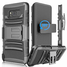 Samsung Galaxy S8 /Plus Case Hard&Soft Rubber Hybrid Armor Impact Defender Cover